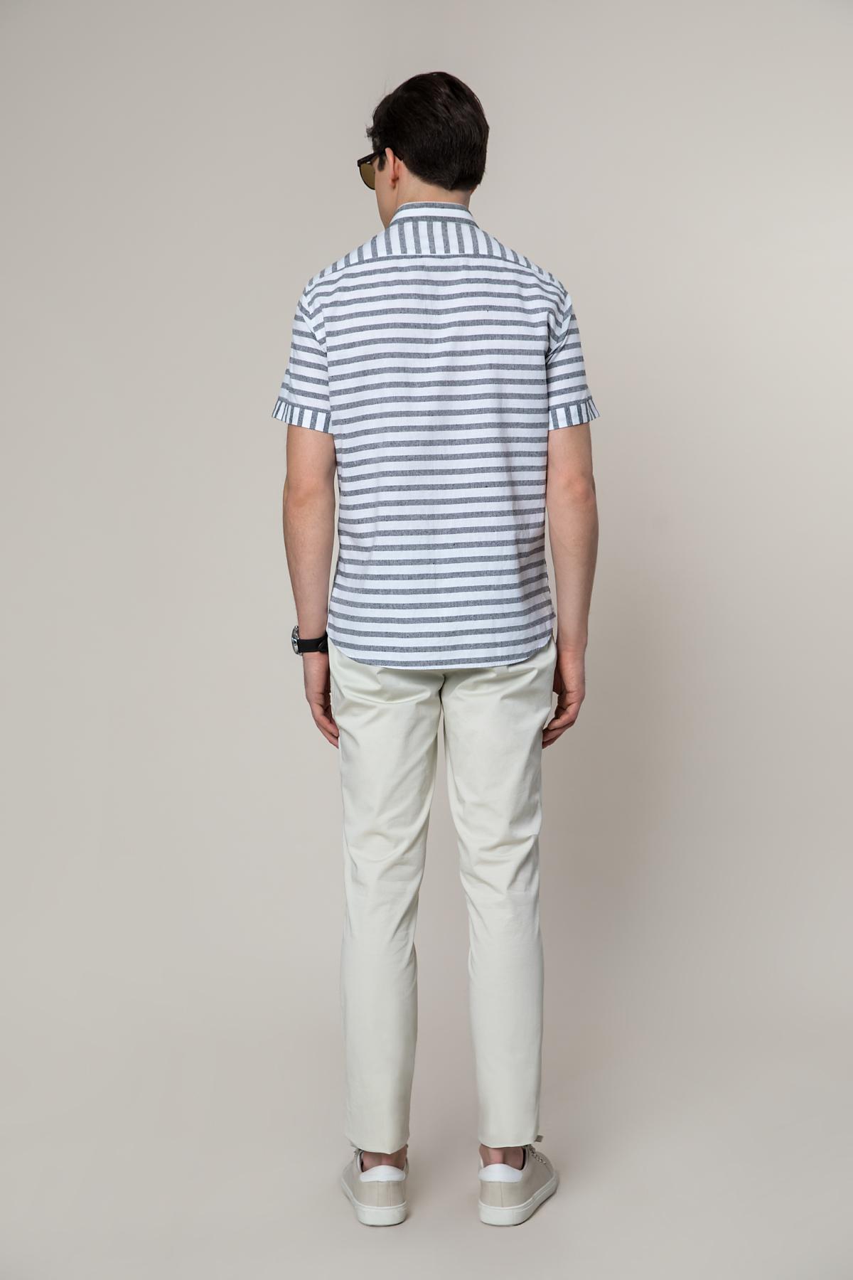 Рубашка белого цвета в полоску Vaismann 19108