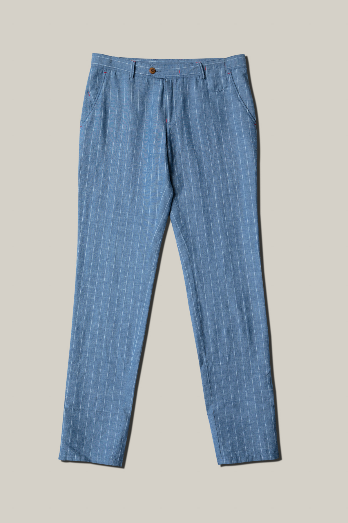Брюки «chinos» синего цвета в полоску Vaismann 19734