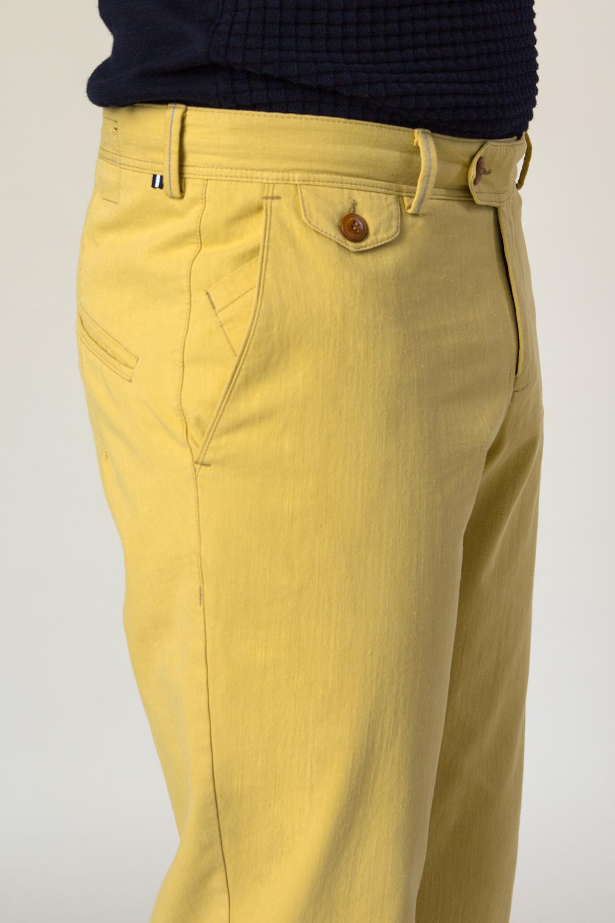 Брюки «chinos» желтого цвета Vaismann 19729