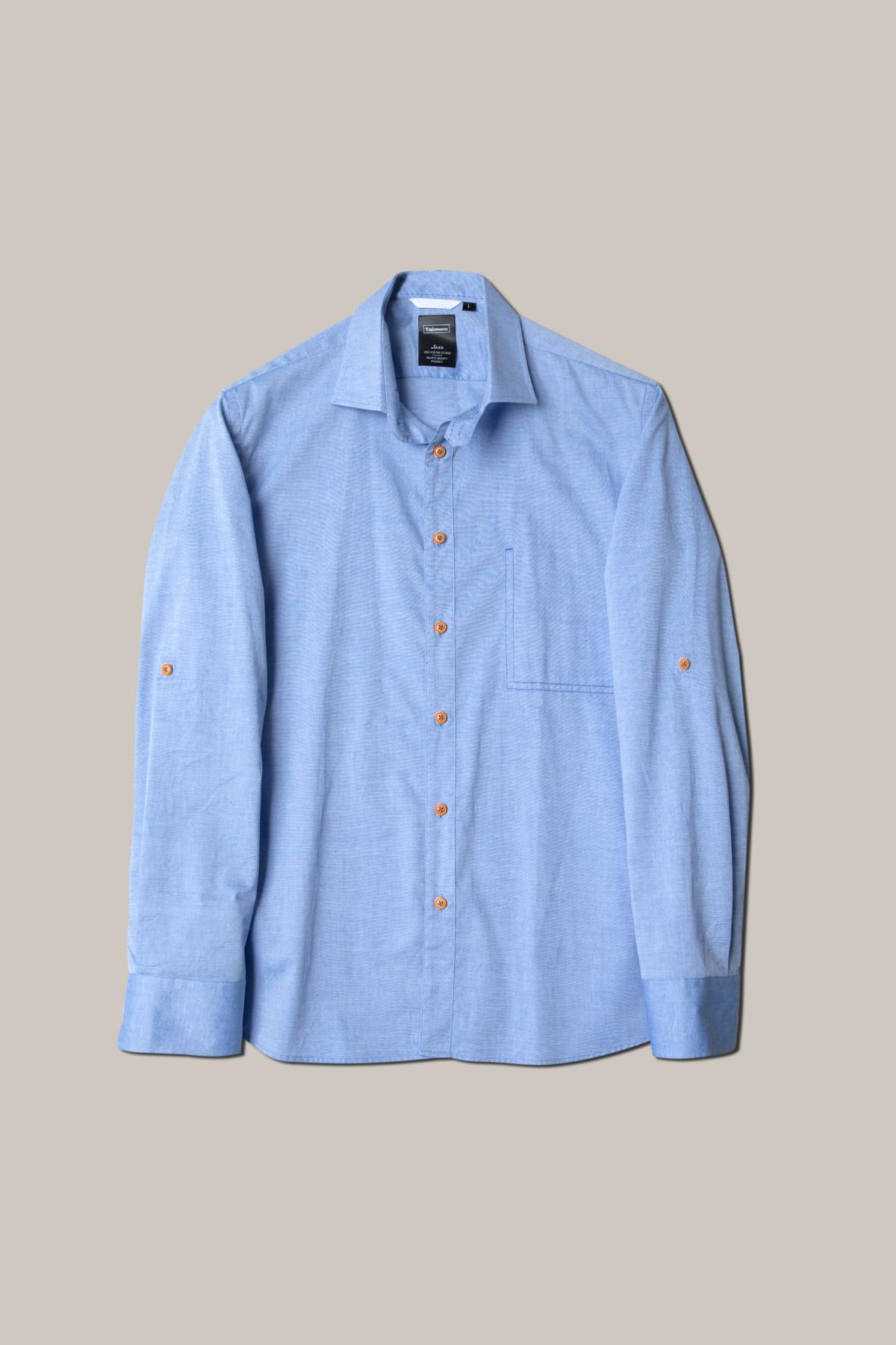 Рубашка голубого цвета Vaismann 19148