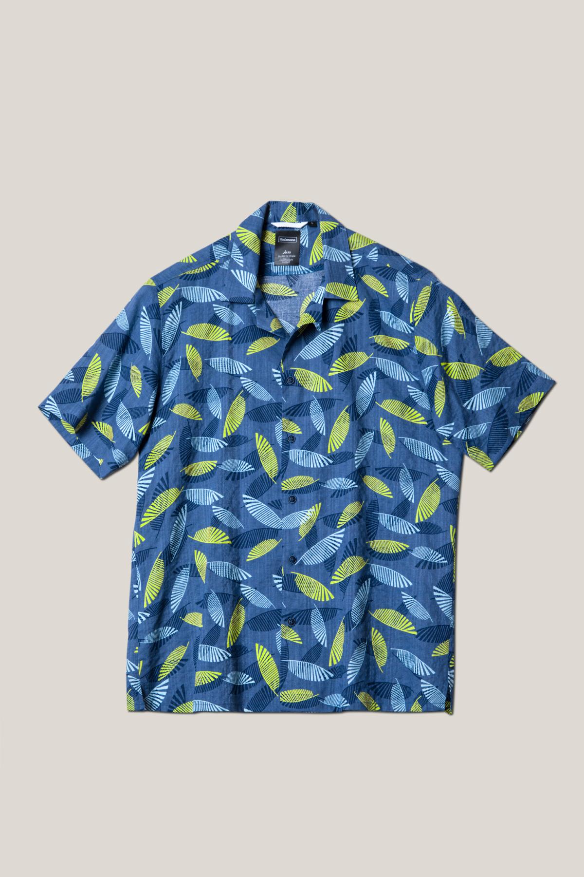 """Рубашка """"короткий рукав"""" из принтованной  ткани в  рисунок  Vaismann 19127"""