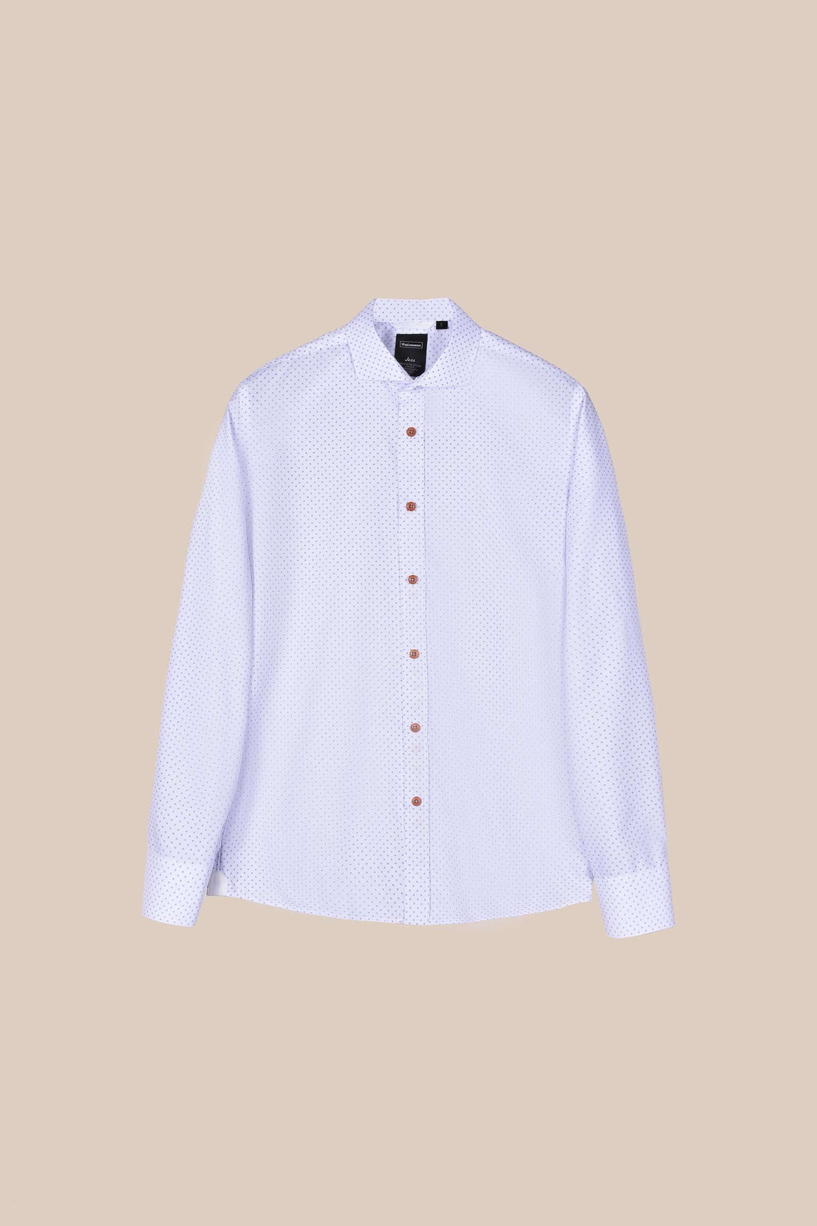 Рубашка в мелкий принт белого  цвета Vaismann 20160