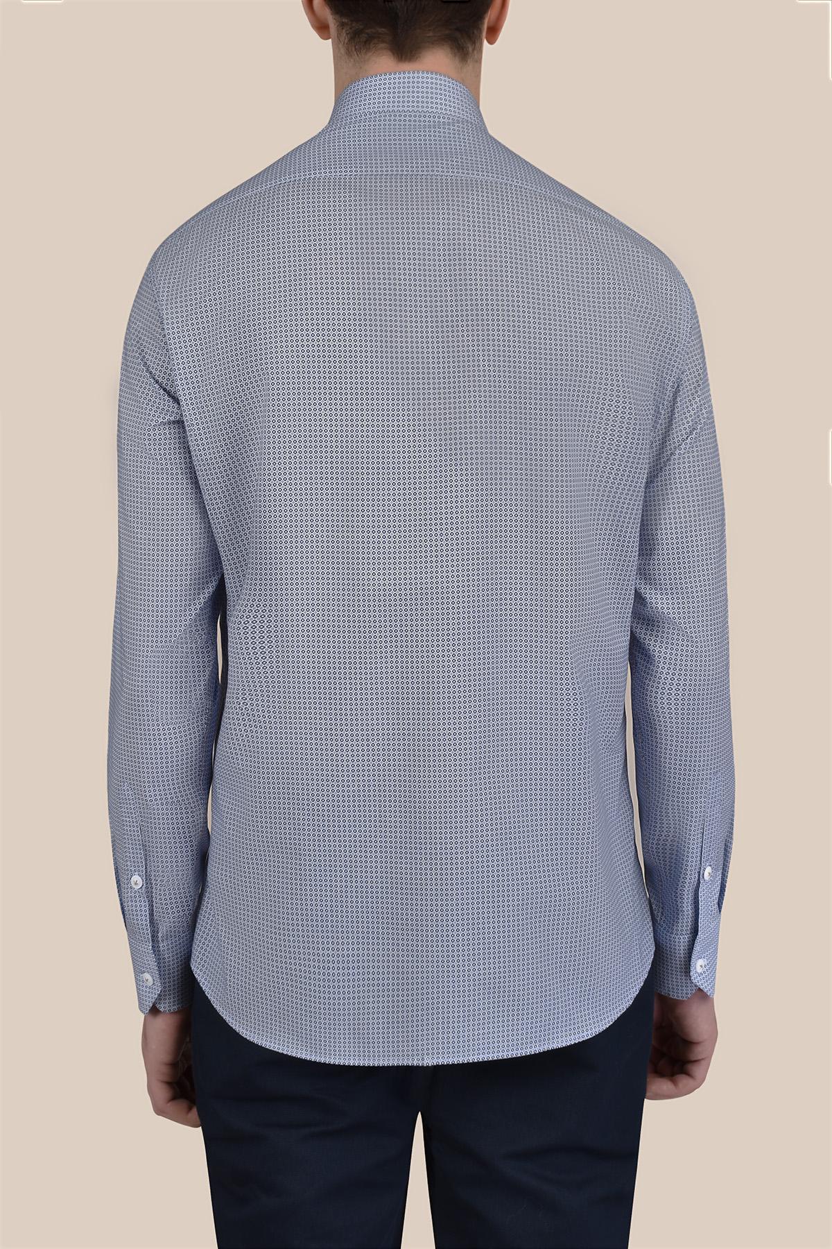 Рубашка из принтованой ткани в мелкий рисунок Vaismann 20104
