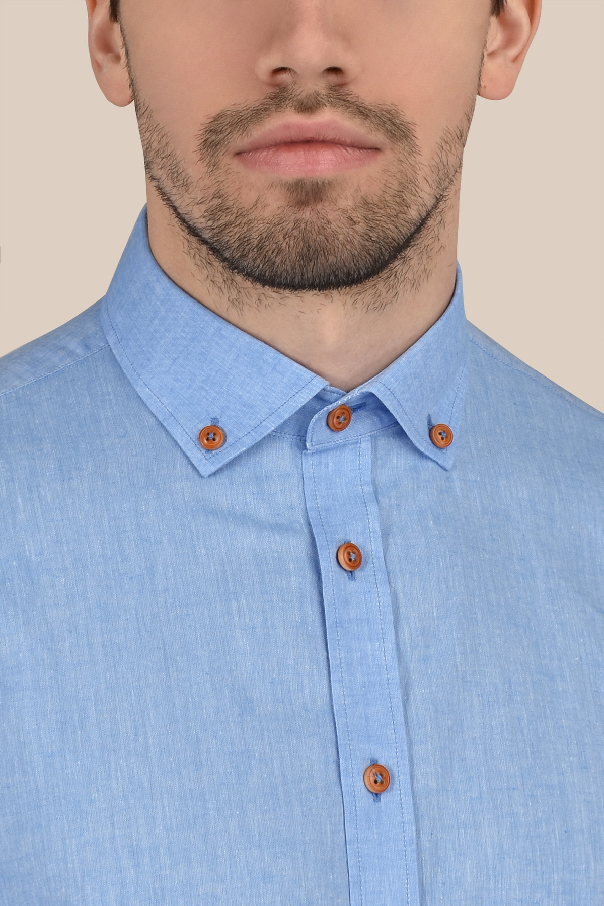 Рубашка голубого цвета  Vaismann 20128