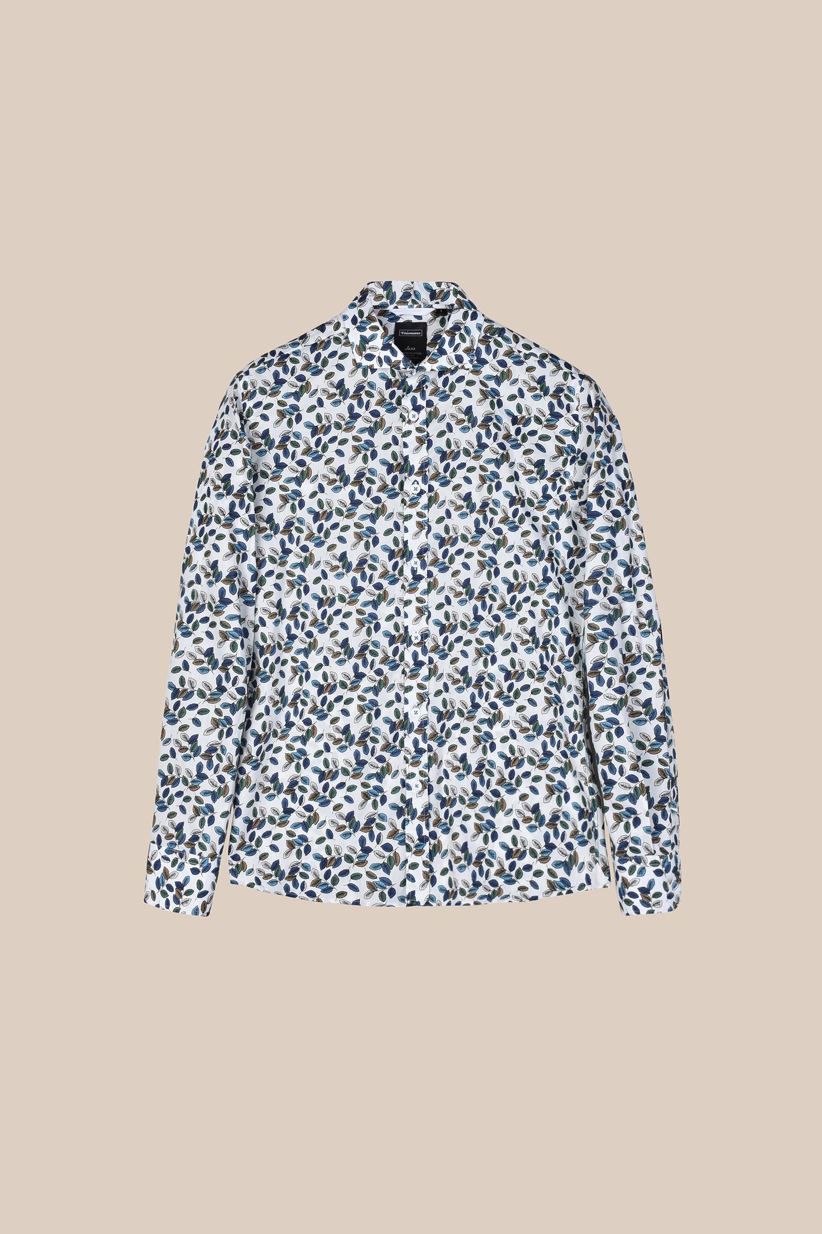 Рубашка белого цвета в  яркий принт Vaismann 20117