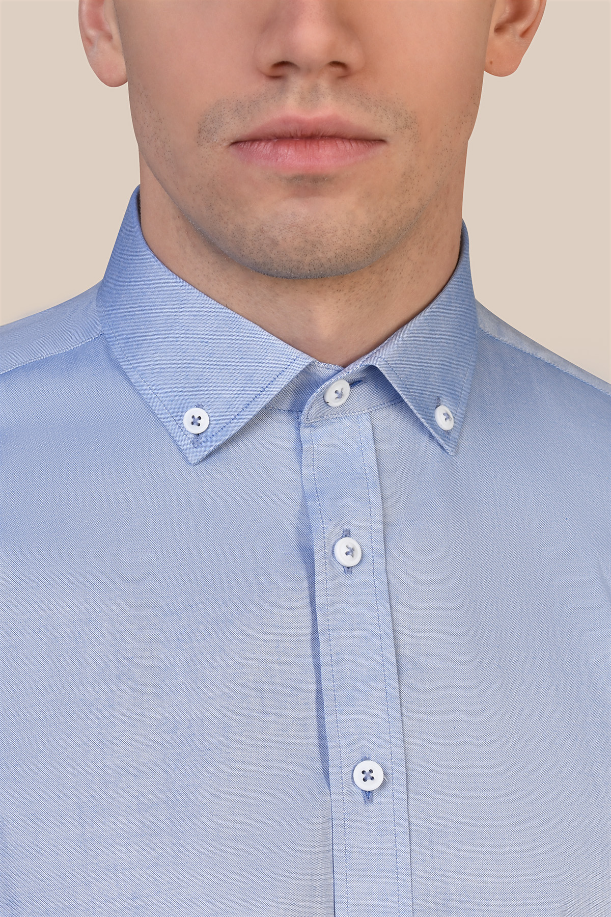 Рубашка голубого цвета Vaismann 20131