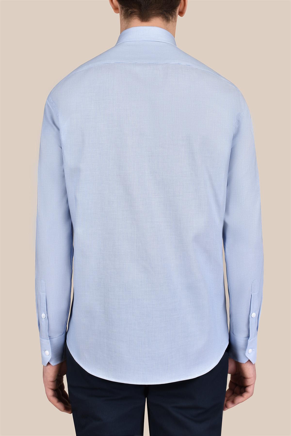 Рубашка в мелкую полоску голубого цвета Vaismann 20116