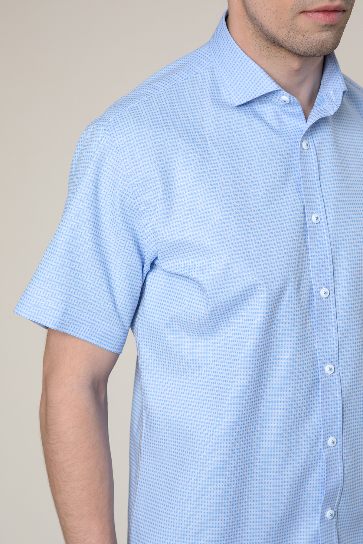 Рубашка  в мелкую клетку  Vaismann 20150