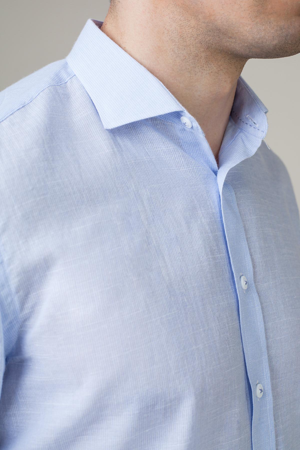 Рубашка голубого цвета Vaismann 20147