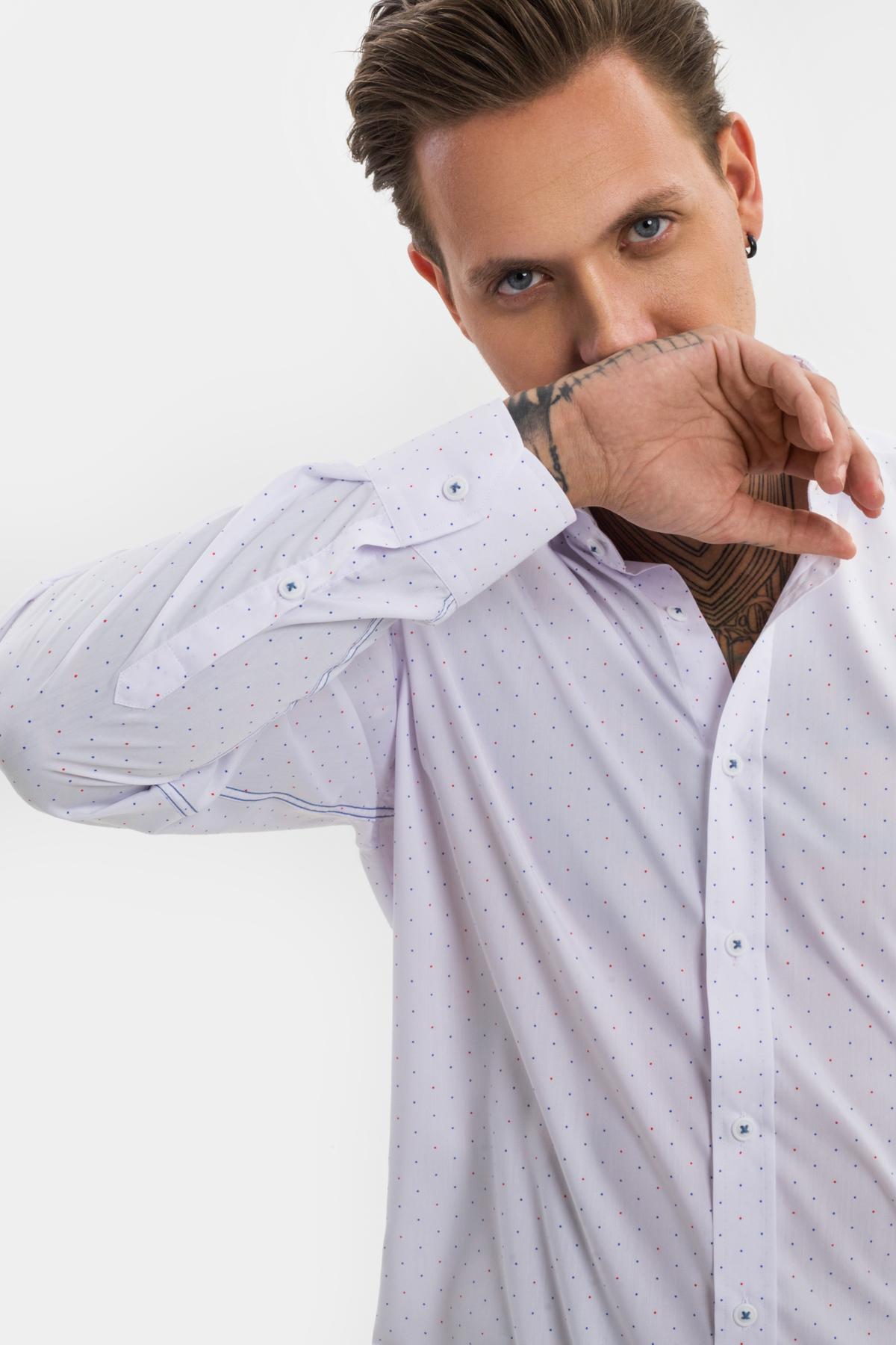Рубашка в мелкую точку  Vaismann 21121