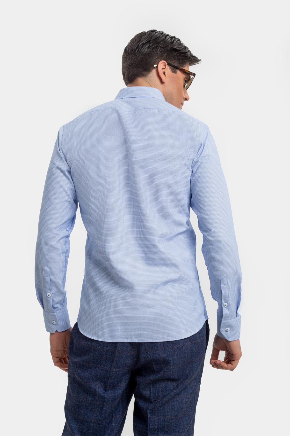 Рубашка голубого цвета  Vaismann 21119