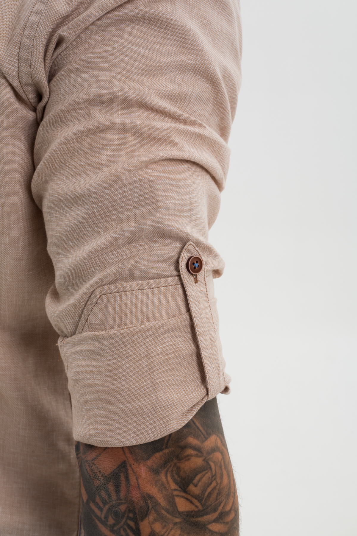 Рубашка цвета беж  Vaismann 21115