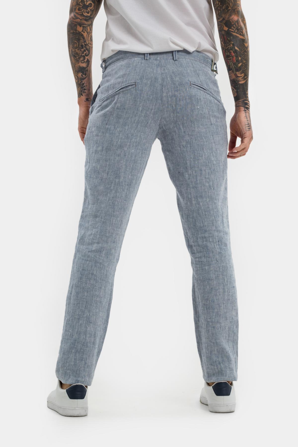 Зауженные брюки «chinos»,  изо льна.  Vaismann  21507