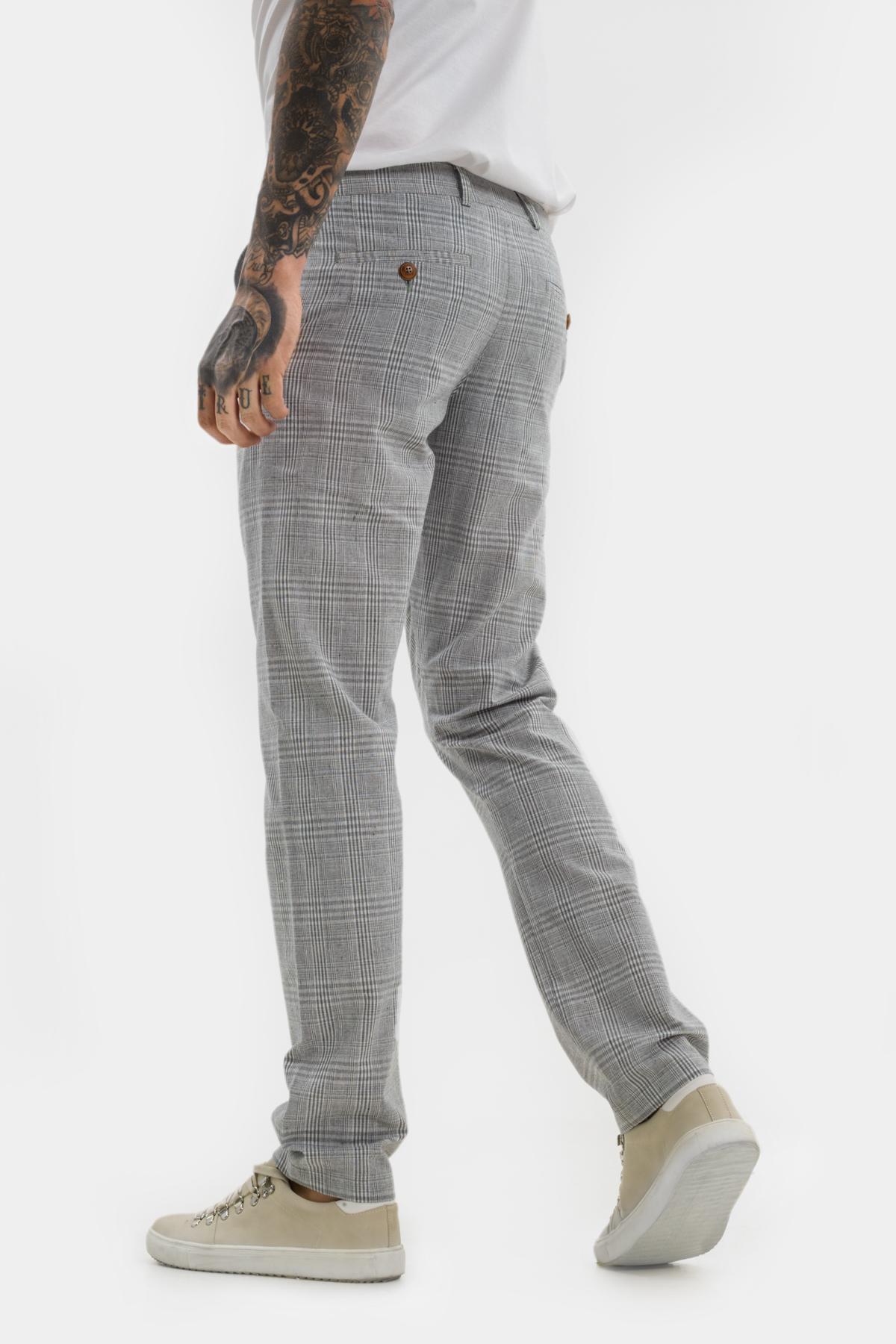 Зауженные брюки «chinos»,  из  хлопка в клетку.  Vaismann  21515