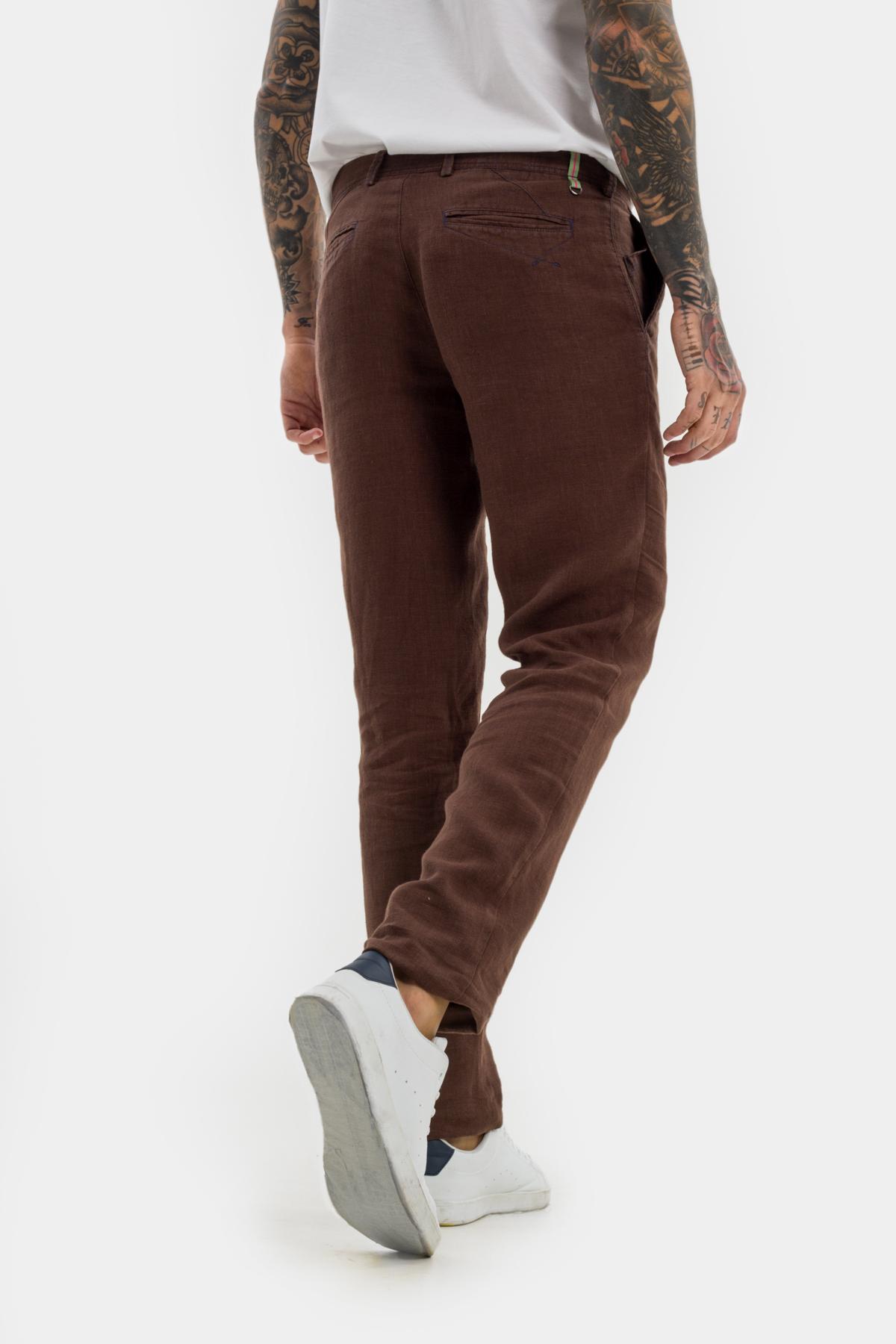 Зауженные брюки «chinos»,  изо льна.  Vaismann  21503