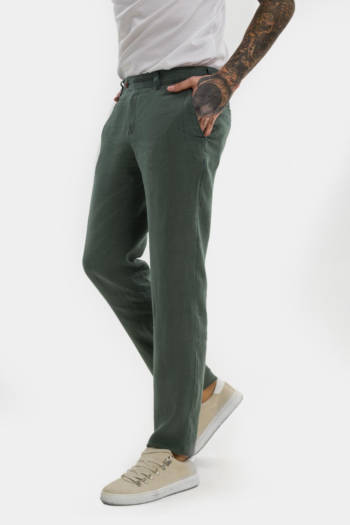 Зауженные брюки «chinos»,  изо льна.  Vaismann  21502