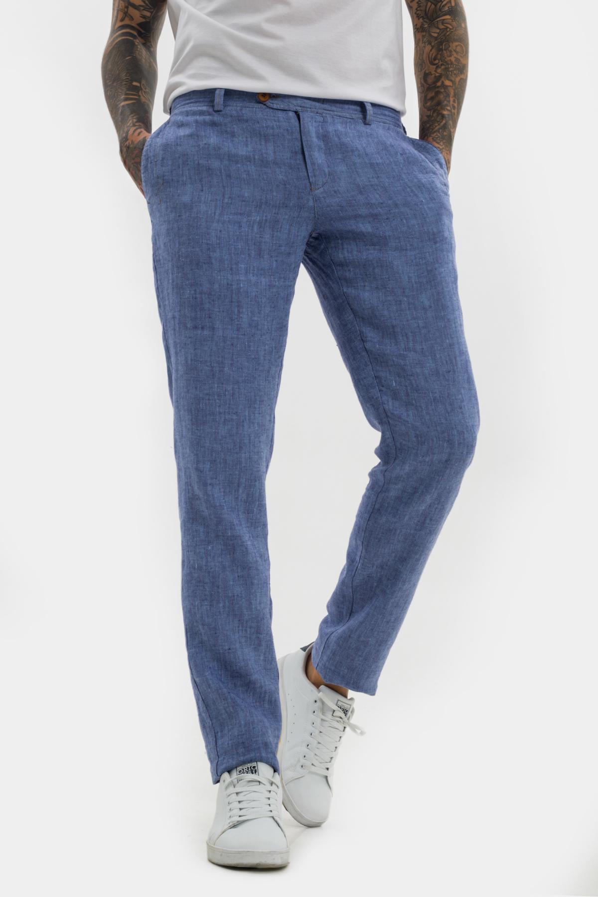 Зауженные брюки «chinos»,  изо льна.  Vaismann  21501