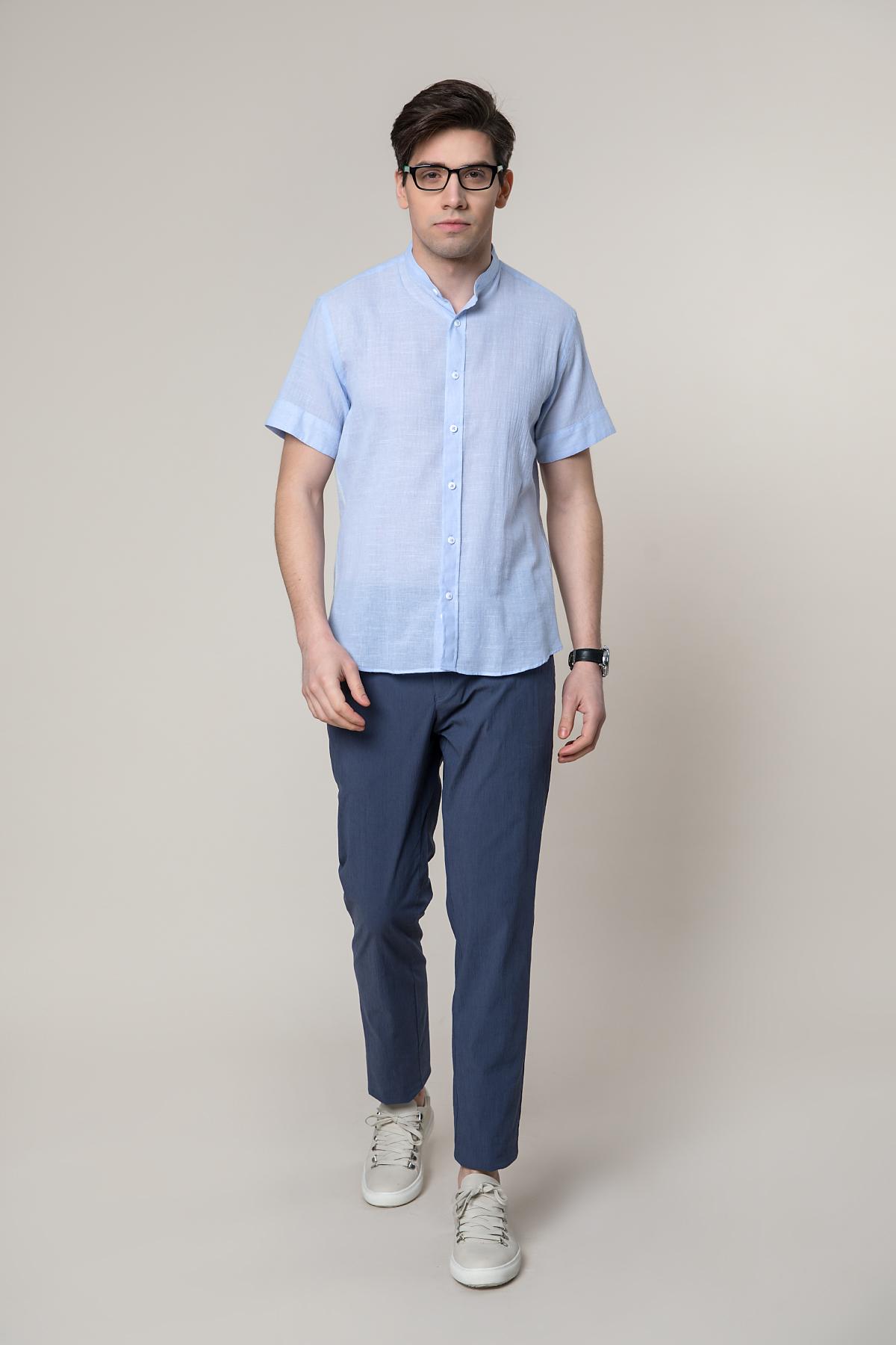 "Рубашка ""короткий рукав"" голубого цвета Vaismann 19103"
