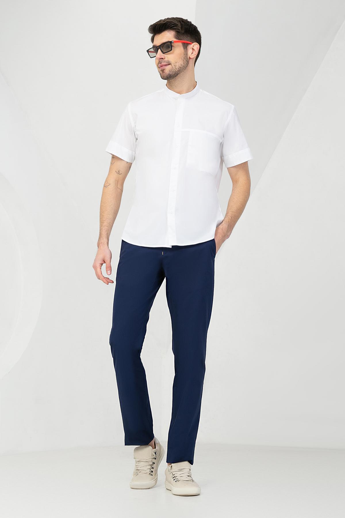 """Рубашка """"короткий рукав"""" белого цвета  Vaismann 19129"""
