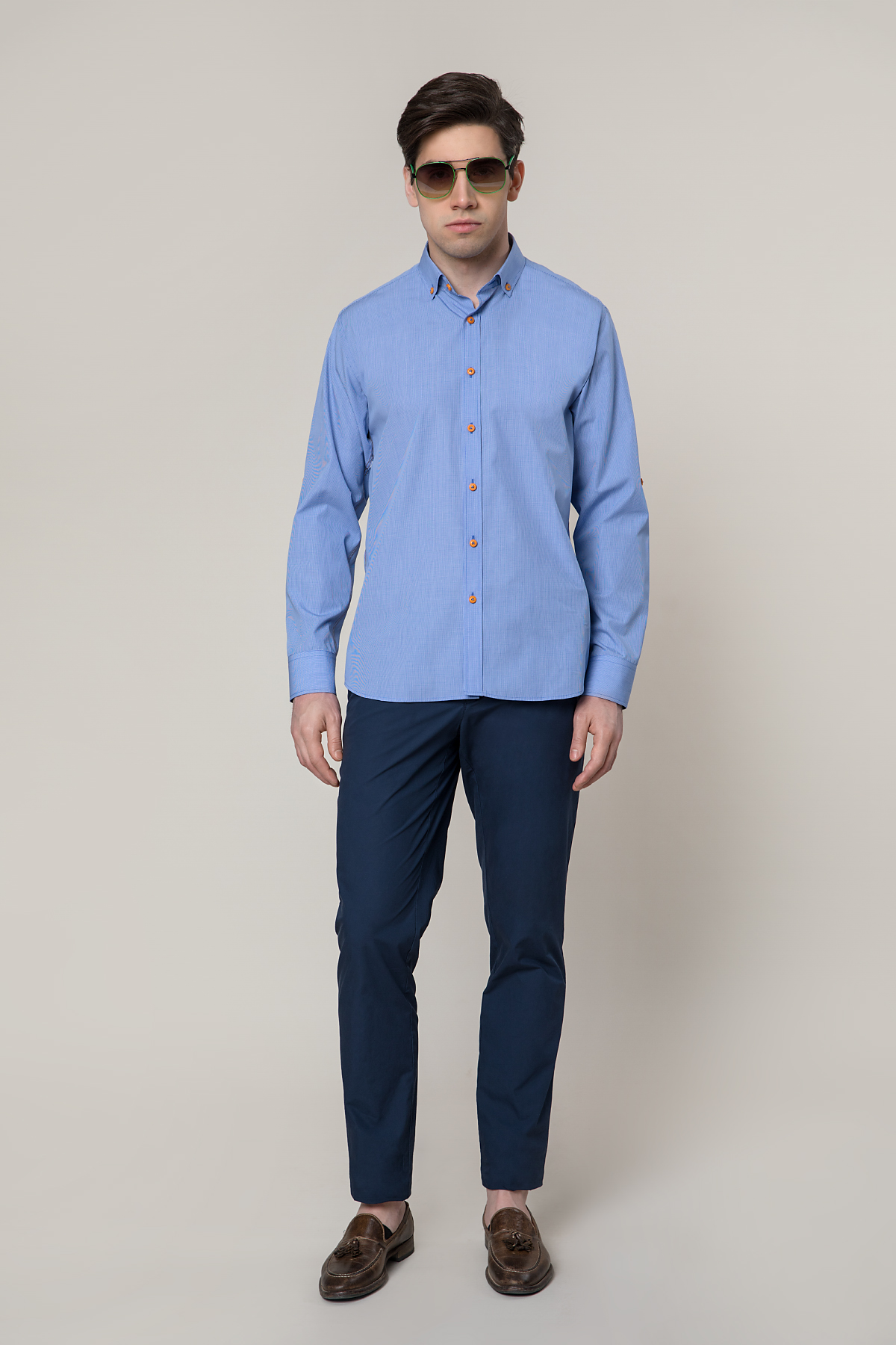 Рубашка голубого цвета Vaismann 19150
