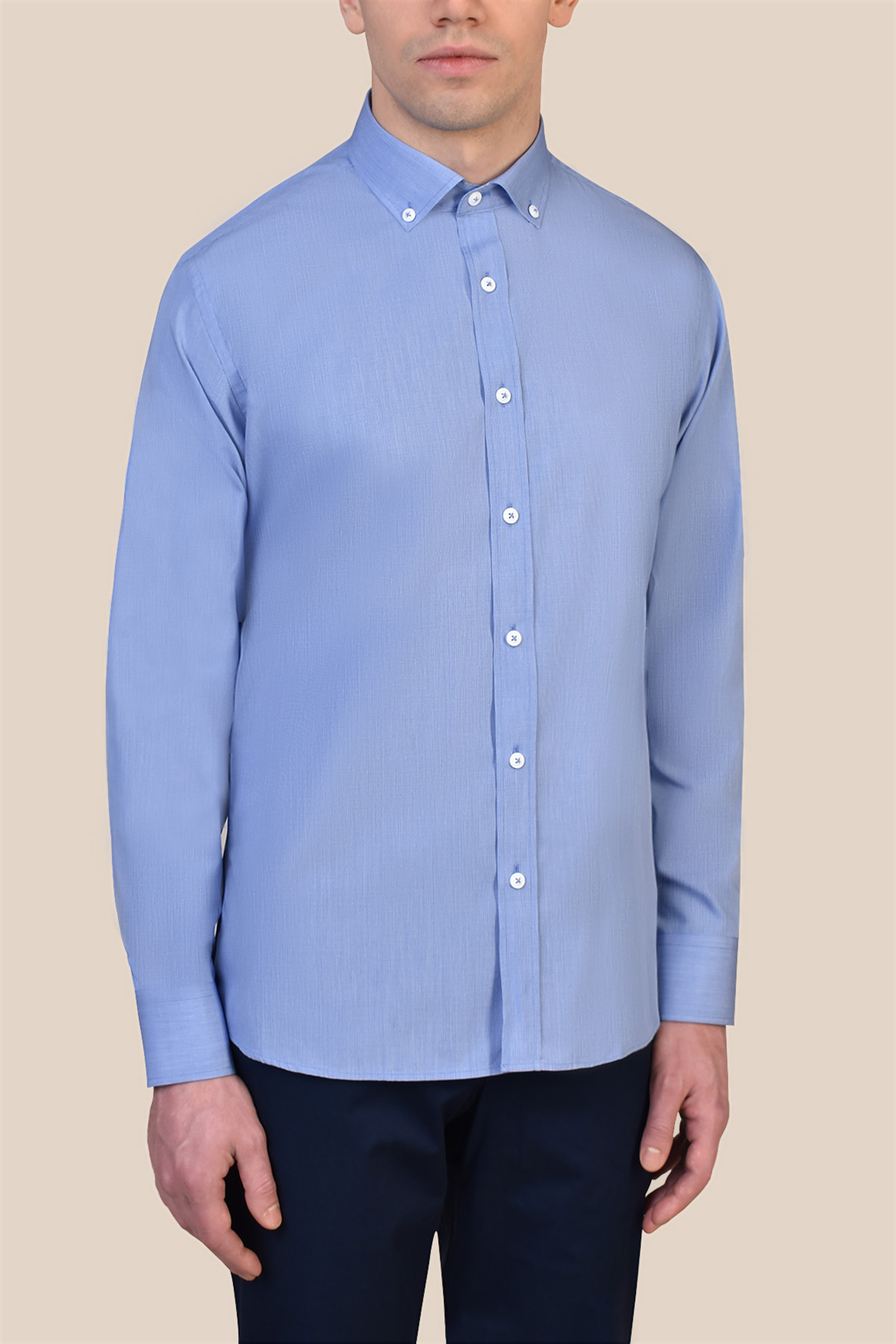 Рубашка голубого цвета Vaismann 19209