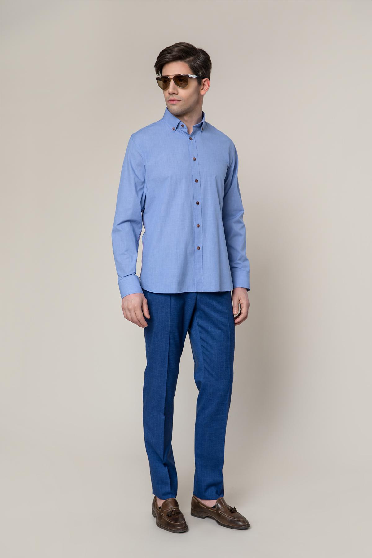 Рубашка голубого цвета   Vaismann 19211