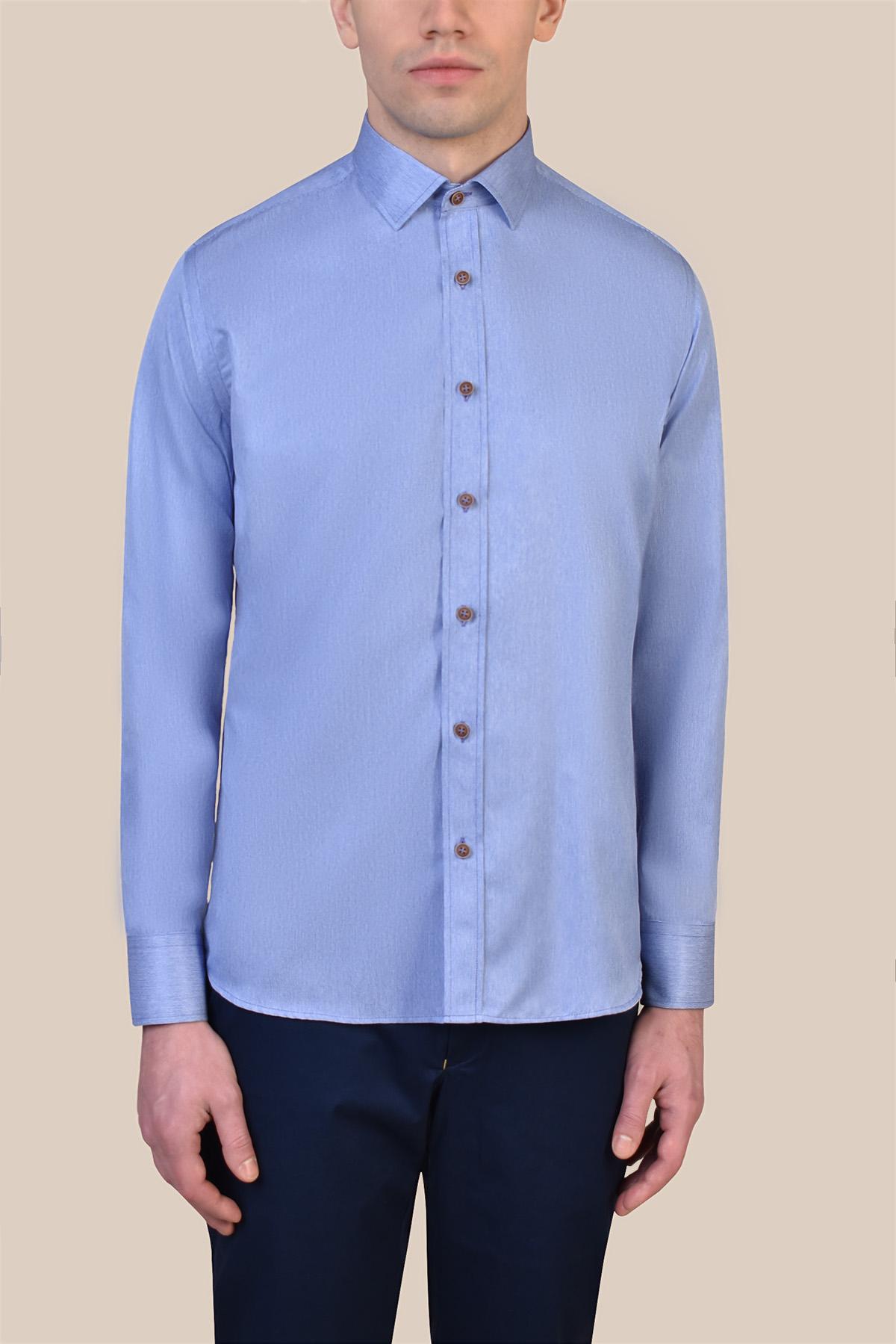 Рубашка голубого цвета Vaismann 19223