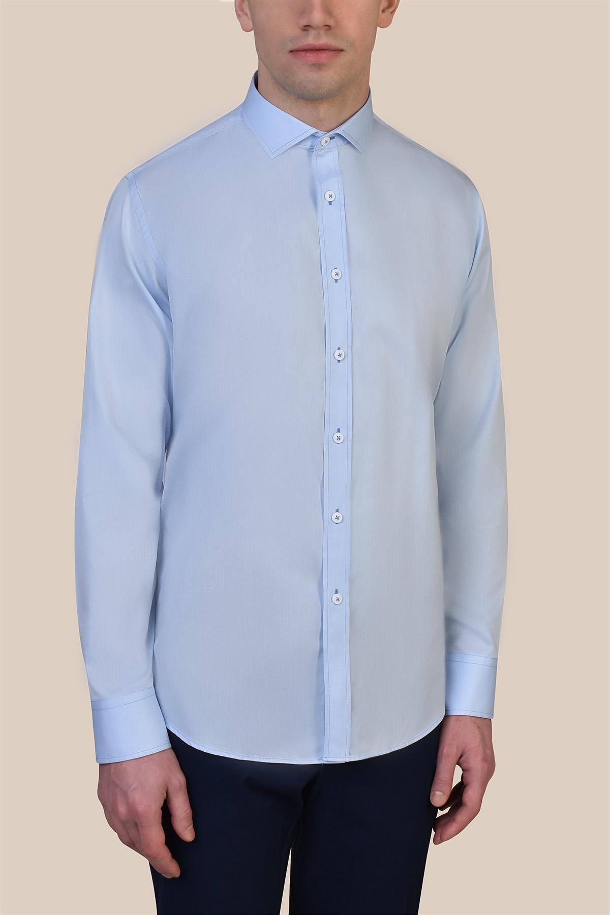 Рубашка голубого цвета Vaismann 19233