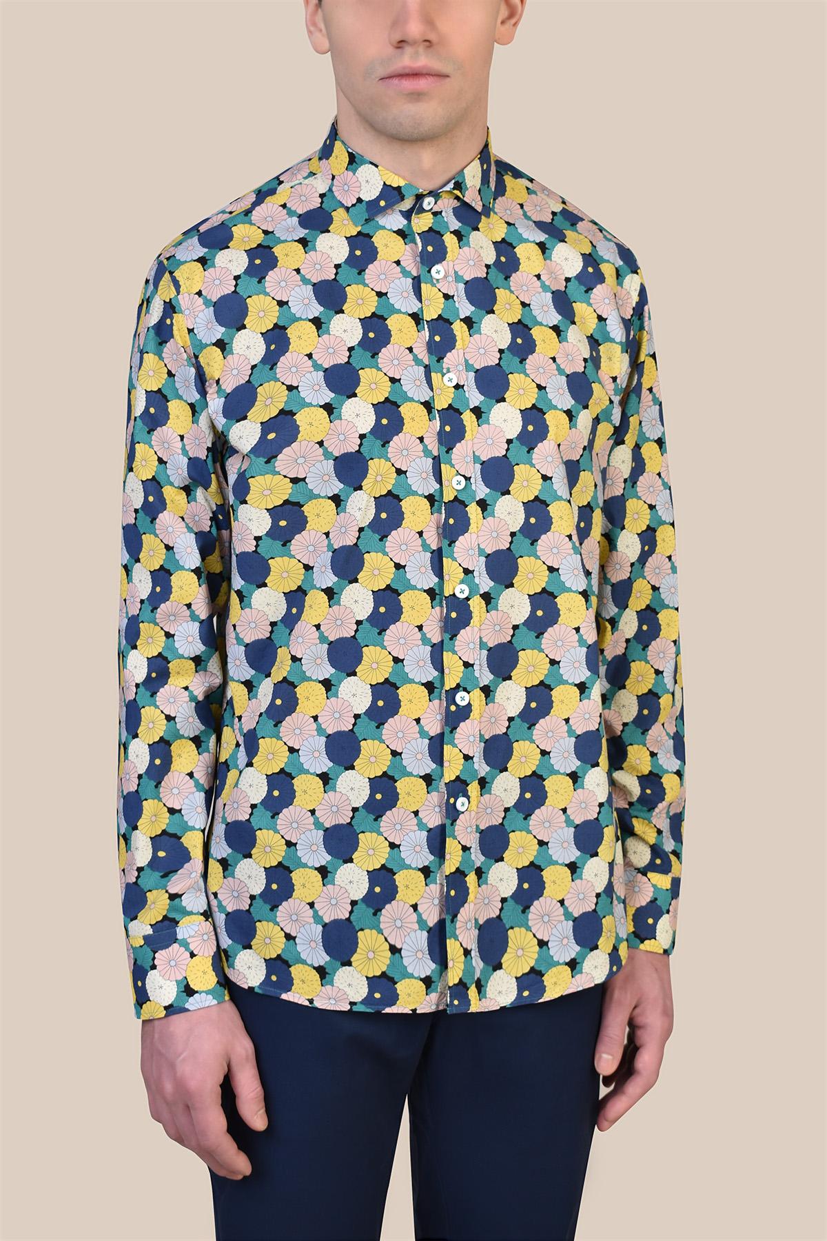Рубашка в яркий узор Vaismann 19237