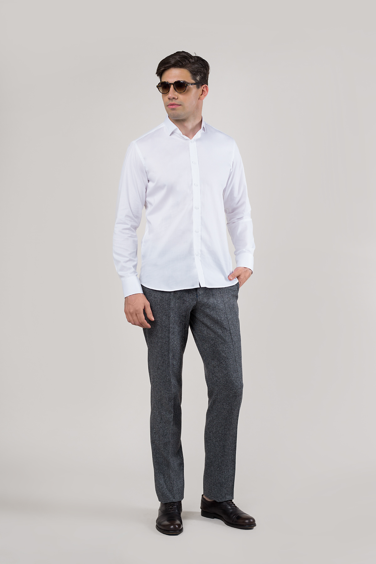 Рубашка белого цвета Vaismann 20103