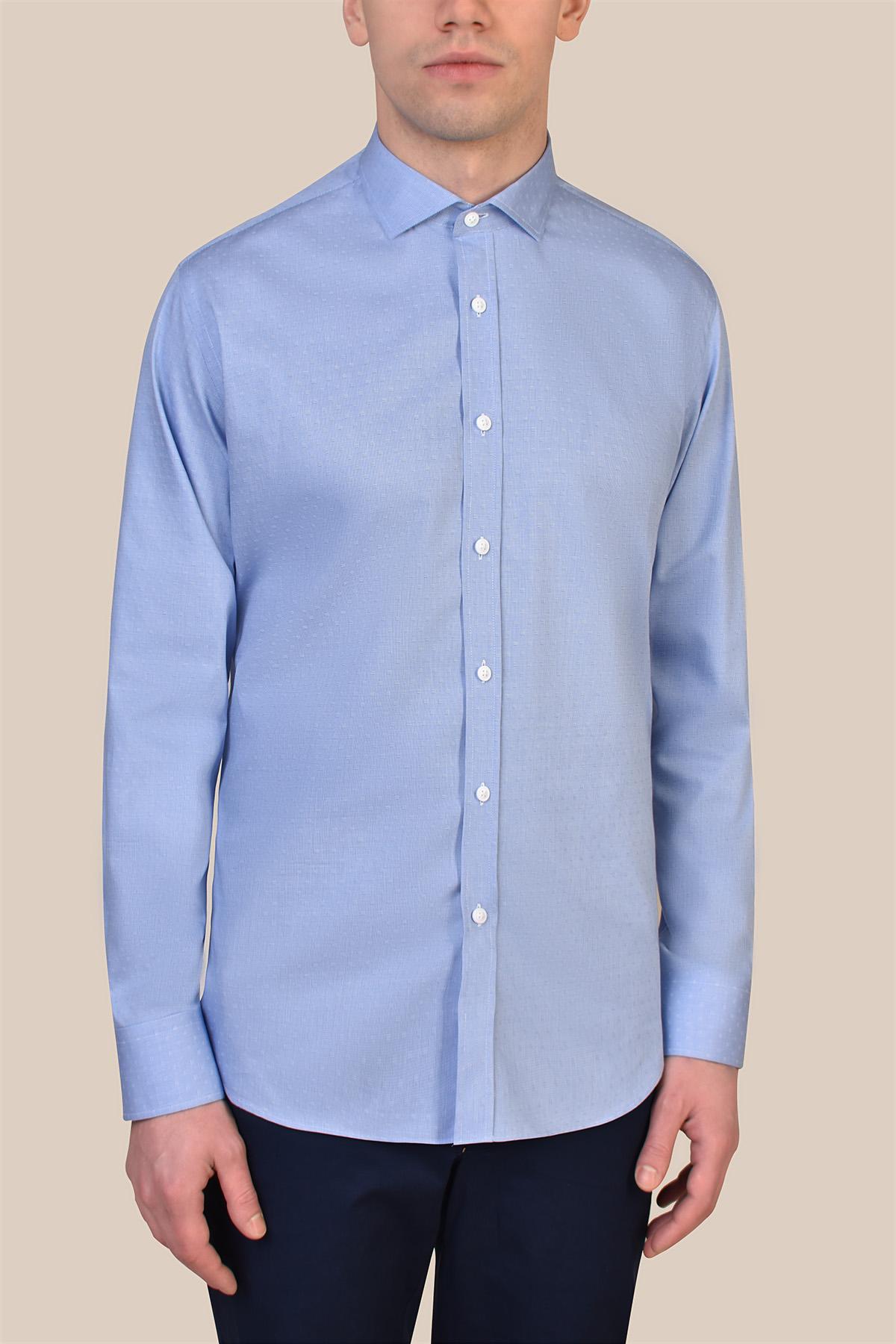 Рубашка голубого цвета Vaismann 20108