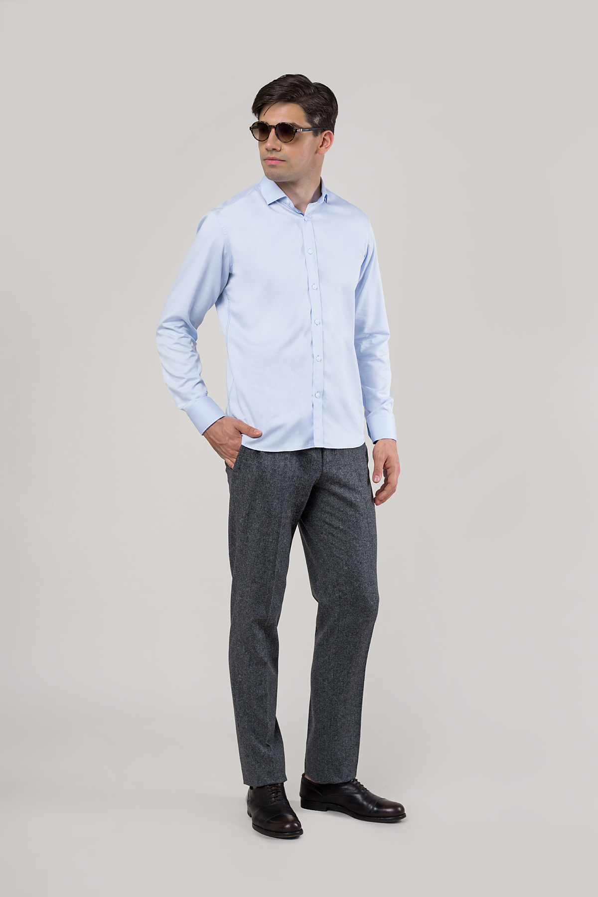Рубашка голубого цвета Vaismann 20111