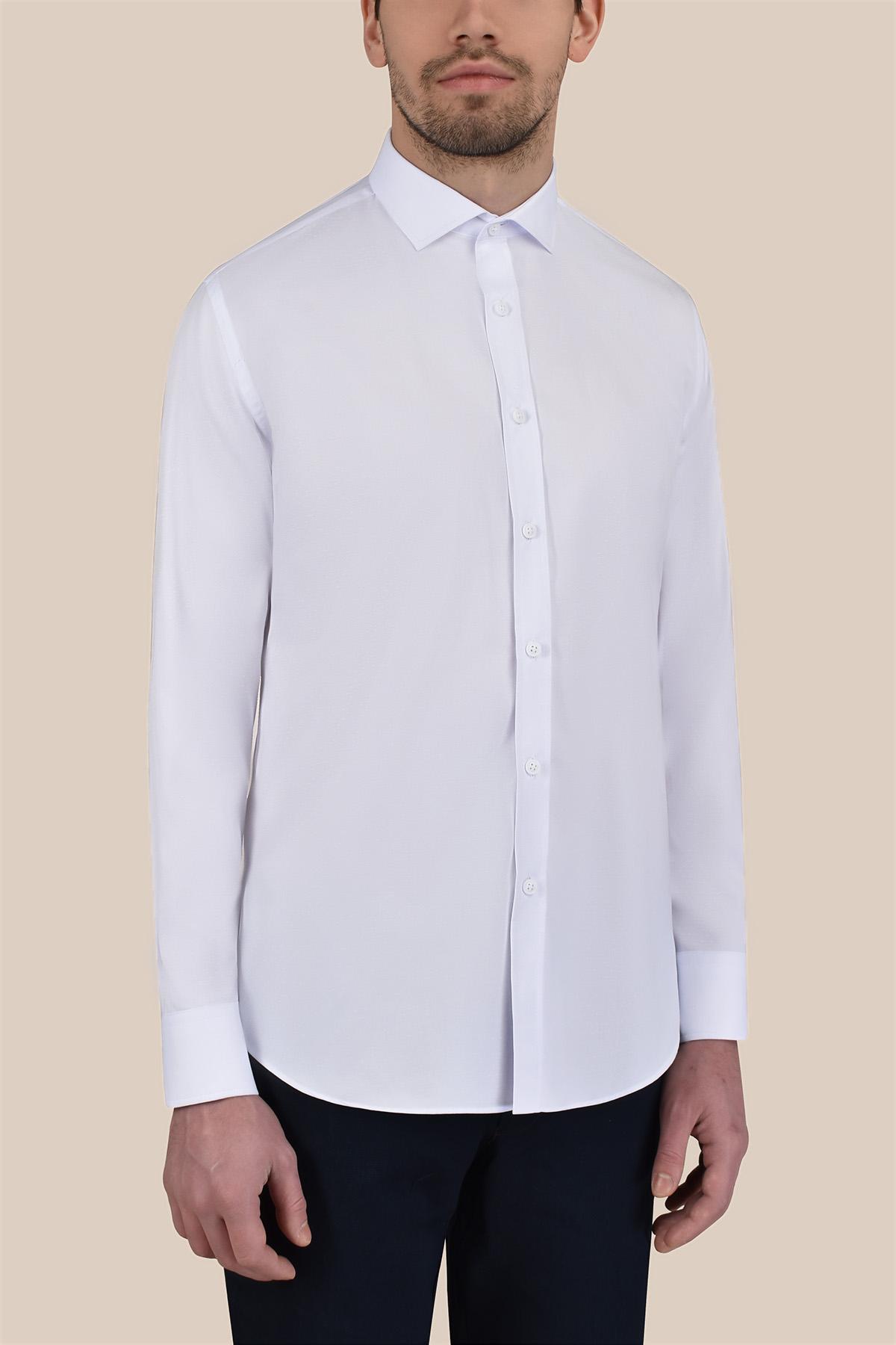 Рубашка белого  цвета  Vaismann 20114