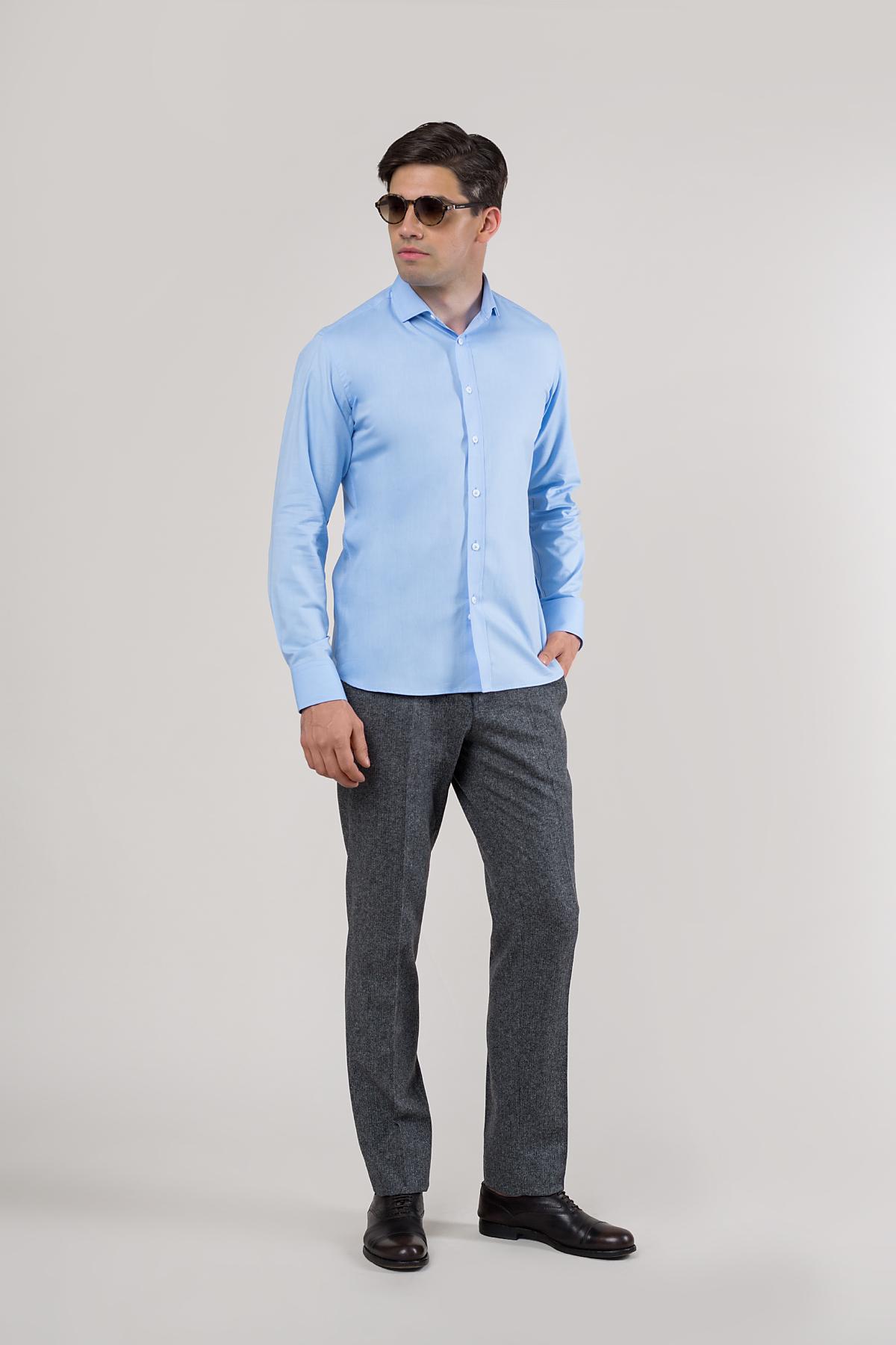 Рубашка голубого  цвета Vaismann 20120