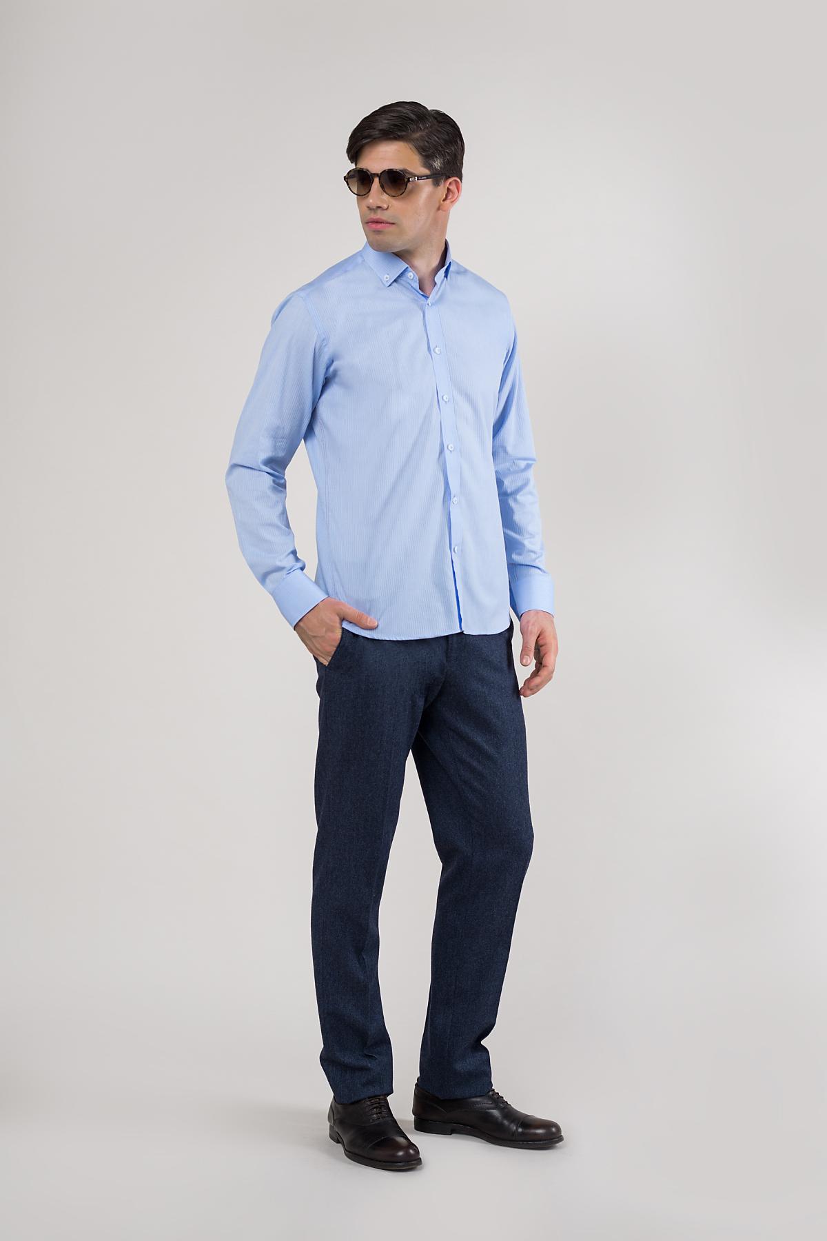 Рубашка голубого цвета Vaismann 20132