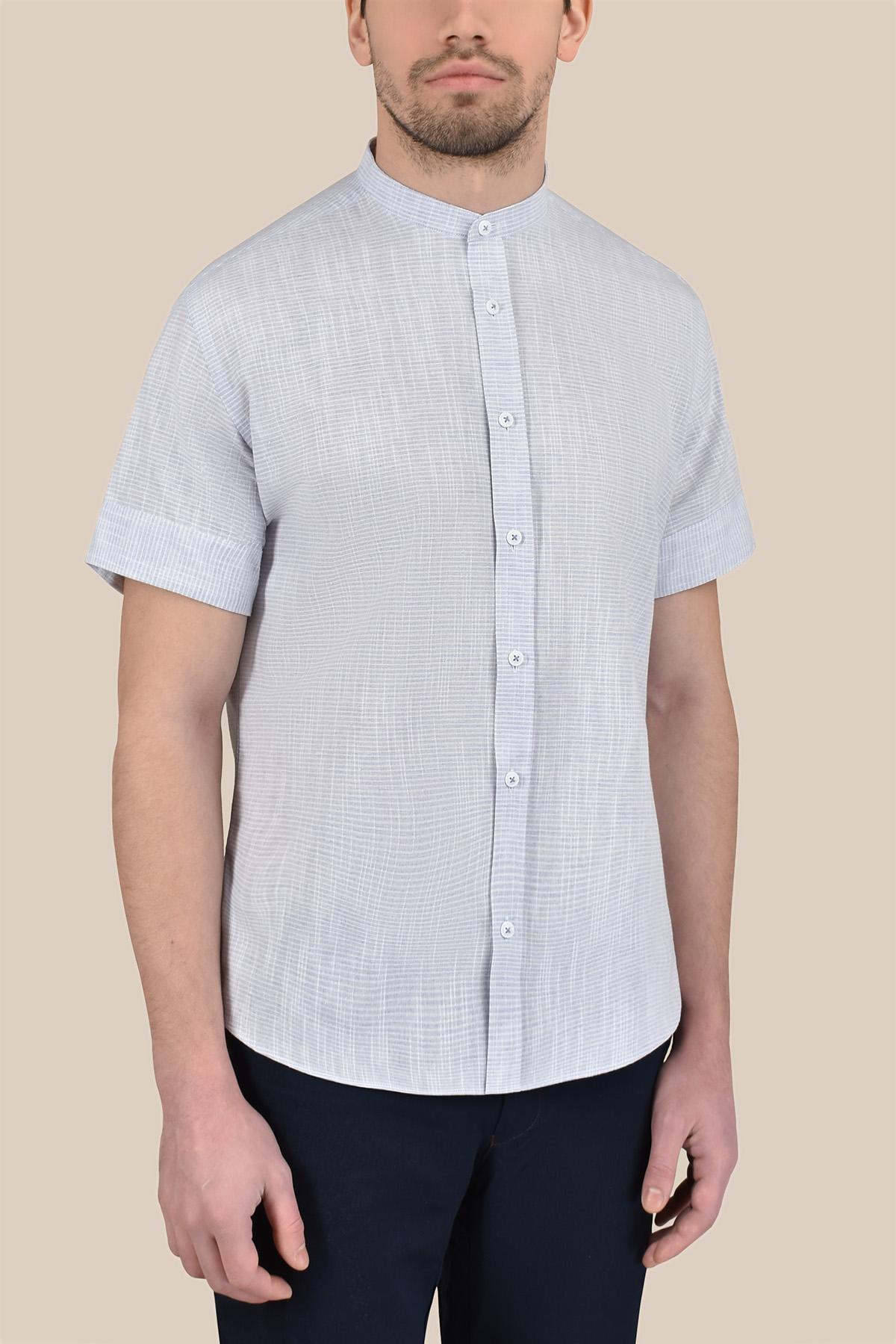 Рубашка  структурная, голубая  Vaismann 20142