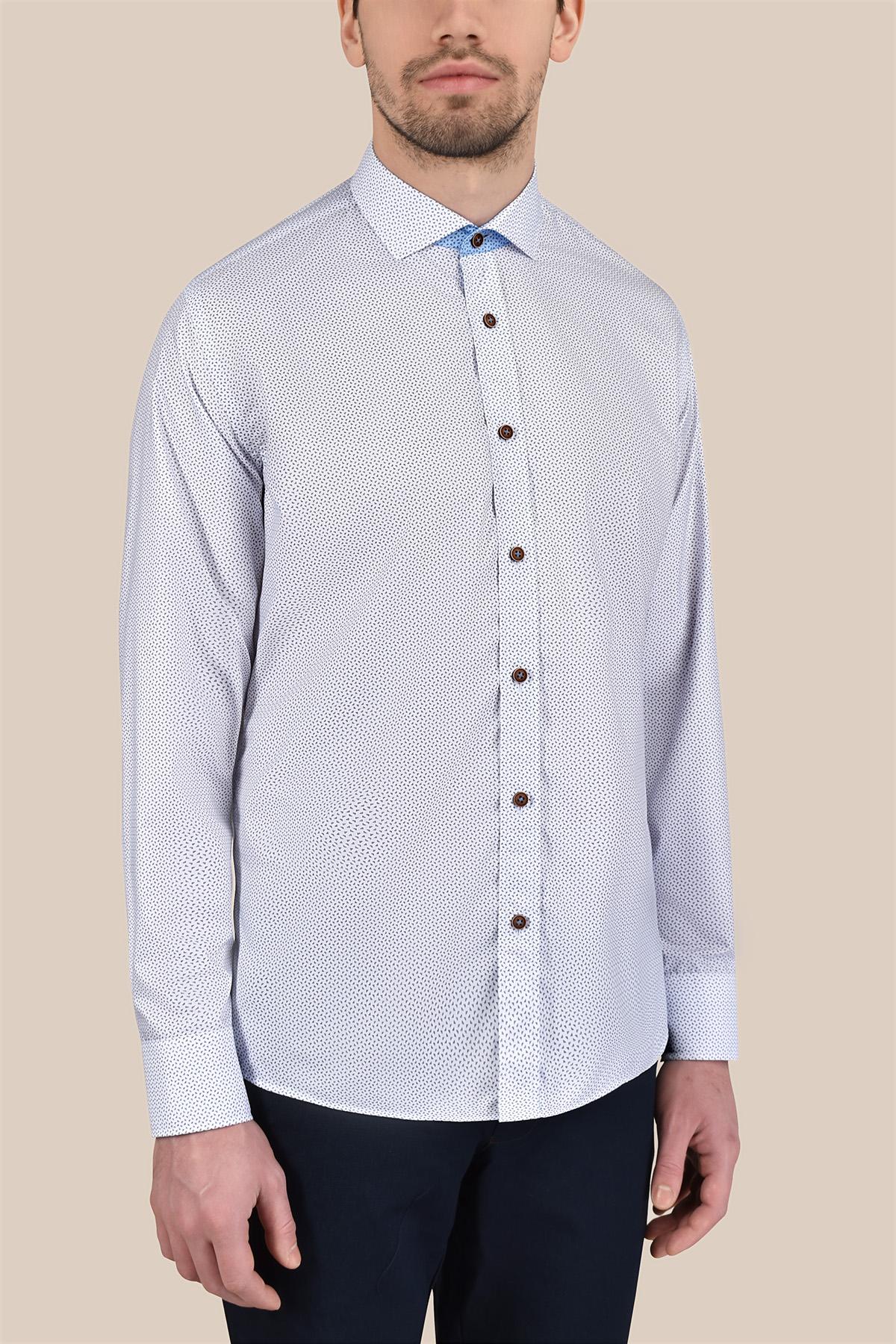 Рубашка в мелкий принт Vaismann 20165