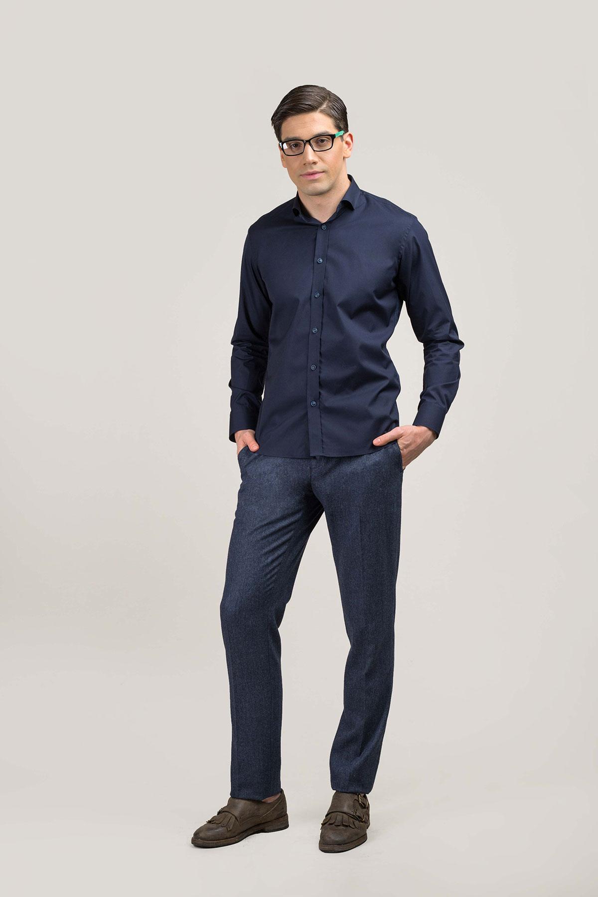 Рубашка синего цвета Vaismann 20202