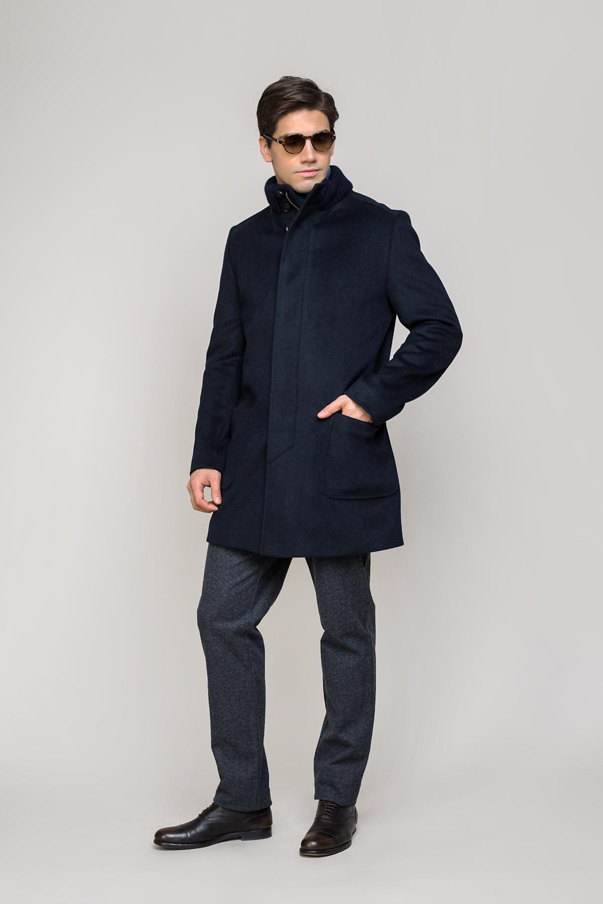 Пальто синего цвета Vaismann 2031