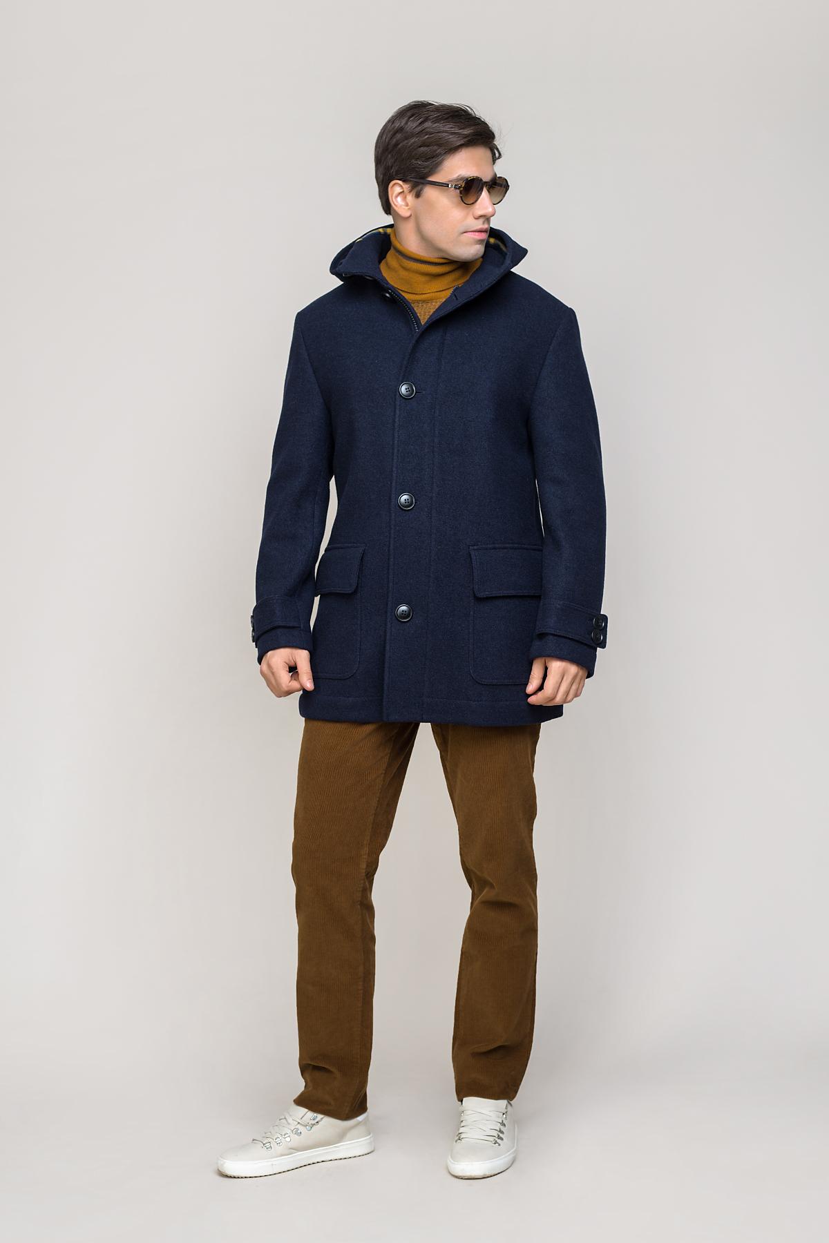 Пальто синего цвета Vaismann 2034