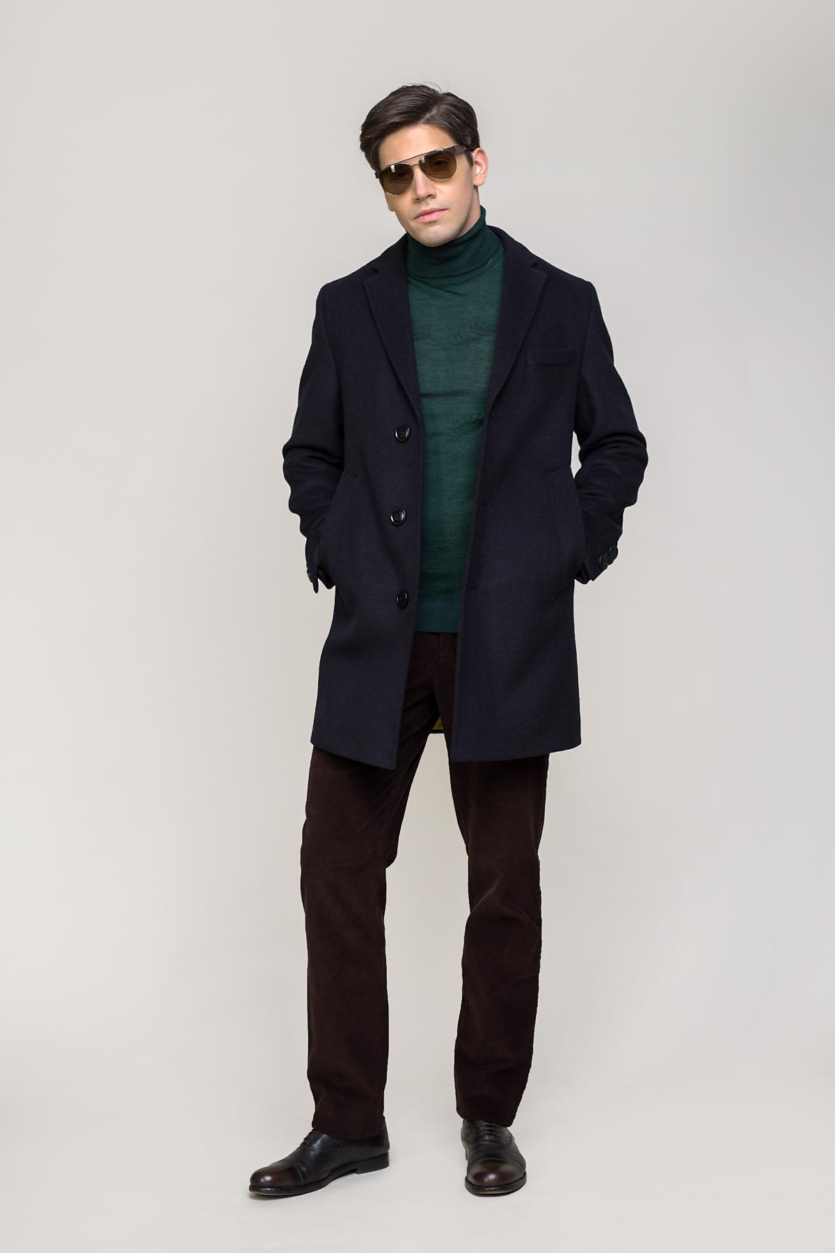 Пальто синего цвета  Vaismann  2035