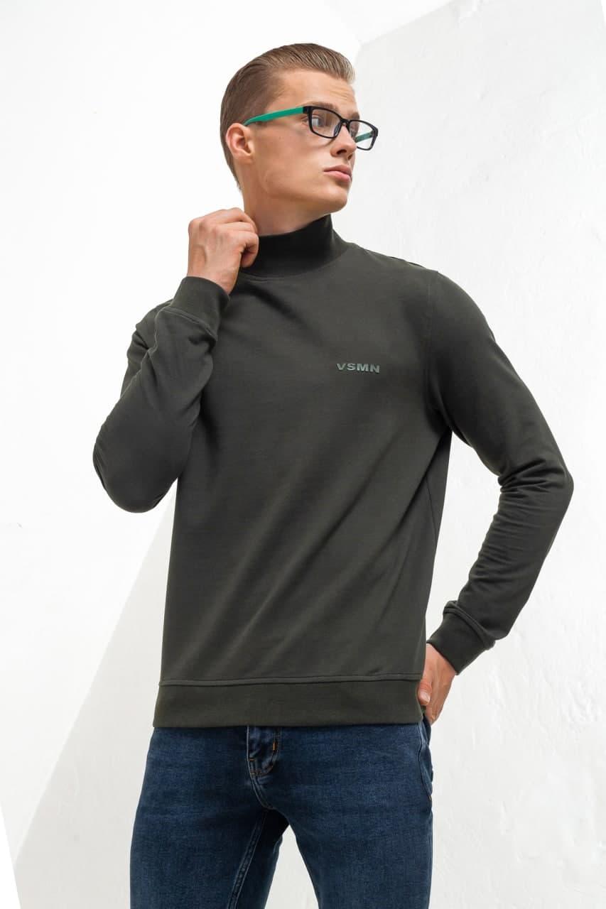 Однотонный свитер из хлопка Vaismann 21-9202661-3