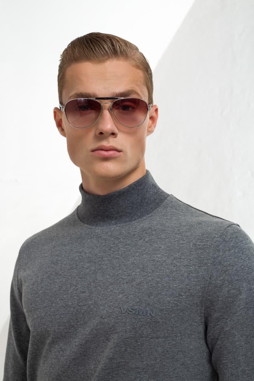 Однотонный свитер из  хлопка Vaismann 21-9202661-6