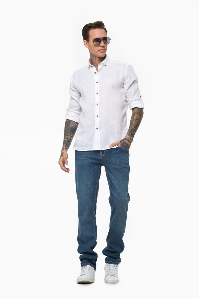 Рубашка из ткани лен  Vaismann 21109