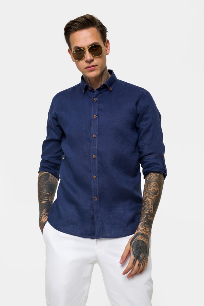 Рубашка из ткани лен  Vaismann 21110
