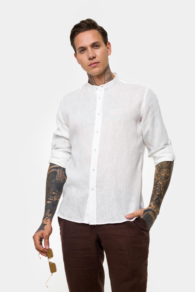 Рубашка из ткани лен  Vaismann  21112