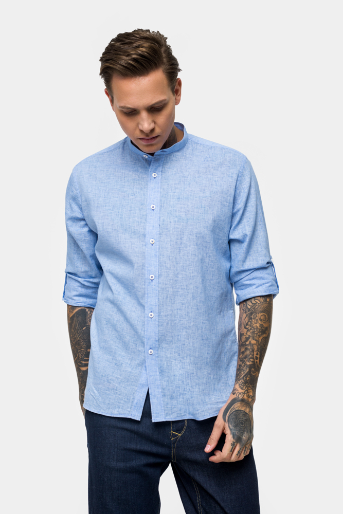 Рубашка из ткани лен  Vaismann  21113