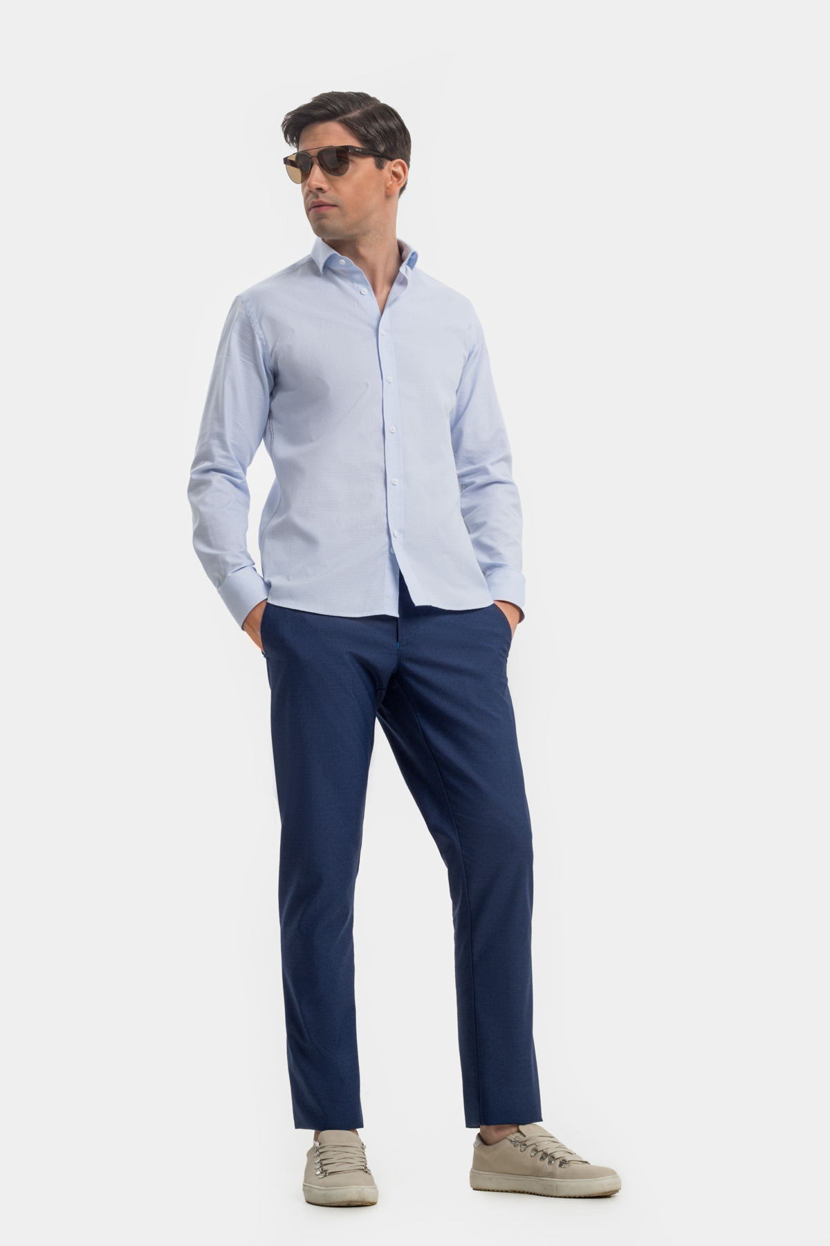 Рубашка голубого цвета  Vaismann 21118