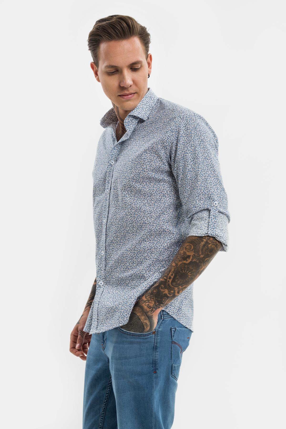 Рубашка в мелкий  рисунок  Vaismann 21120