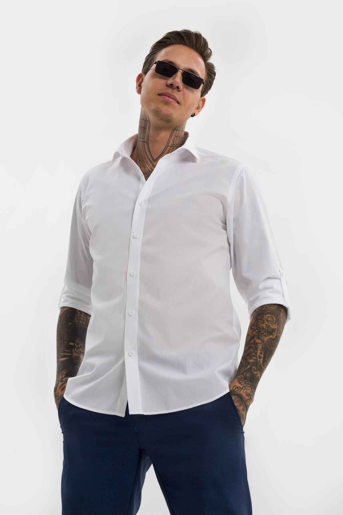 Рубашка белого цвета  Vaismann 21125